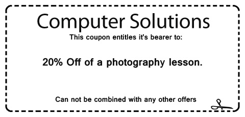 discount on photography lesson